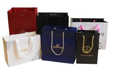 Multi Colored Customized Shopping Bags For Business Shopping / Gift Packing