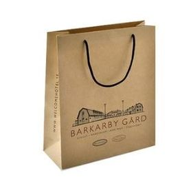 Brown Paper Shopping Bags With Handles , Kraft Paper Grocery Bags